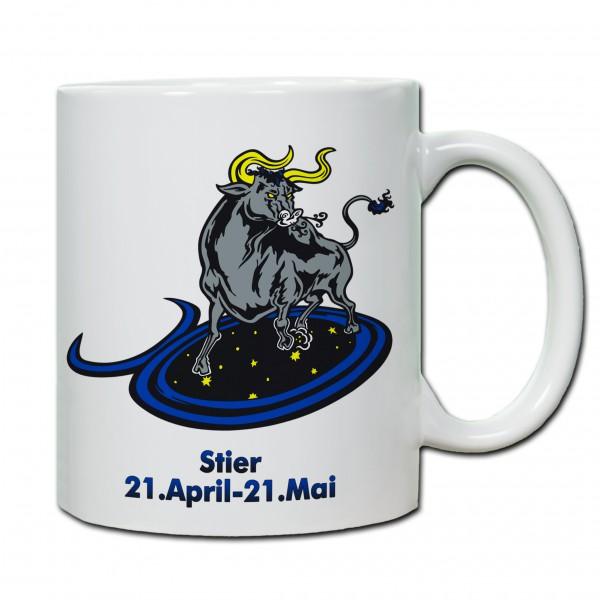 """""""Stier"""" Tasse, Keramiktasse mit Sternzeichen"""