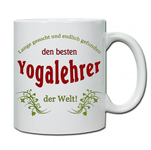 """Bester Yogalehrer..."" Tasse, Keramiktasse"