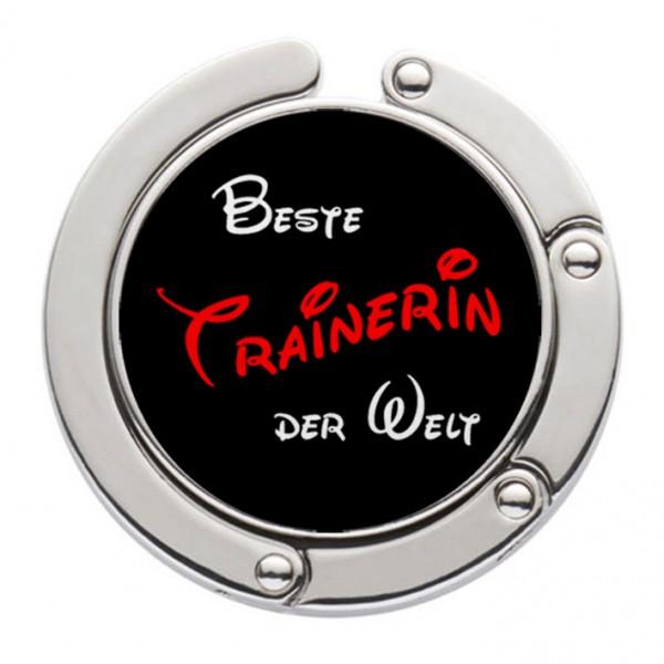 """""""Beste Trainerin der Welt"""" Taschenhalter mit magnet. Gliederhalterung - Taschenhaken & Handtaschenhalter"""