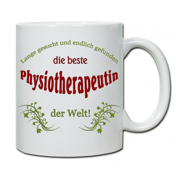 """""""Beste Physiotherapeutin der Welt..."""" Tasse, Keramiktasse"""