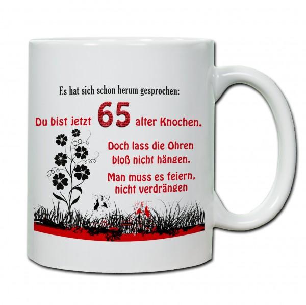 """""""65. Geburtstag - Tasse 04"""" Tasse, Keramiktasse"""