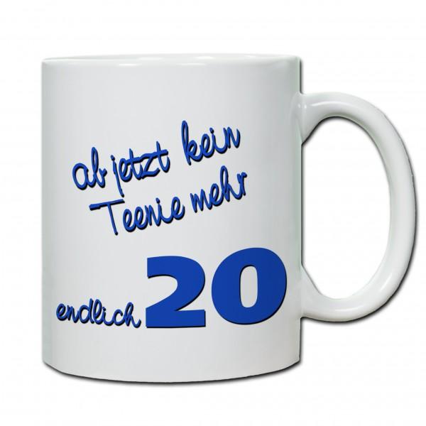 """""""20. Geburtstag - Tasse 02"""" Tasse, Keramiktasse"""