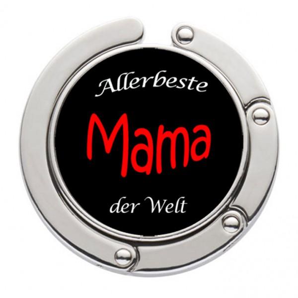 """""""Allerbeste Mama der Welt"""" Taschenhalter mit magnet. Gliederhalterung - Taschenhaken & Handtaschenhalter"""