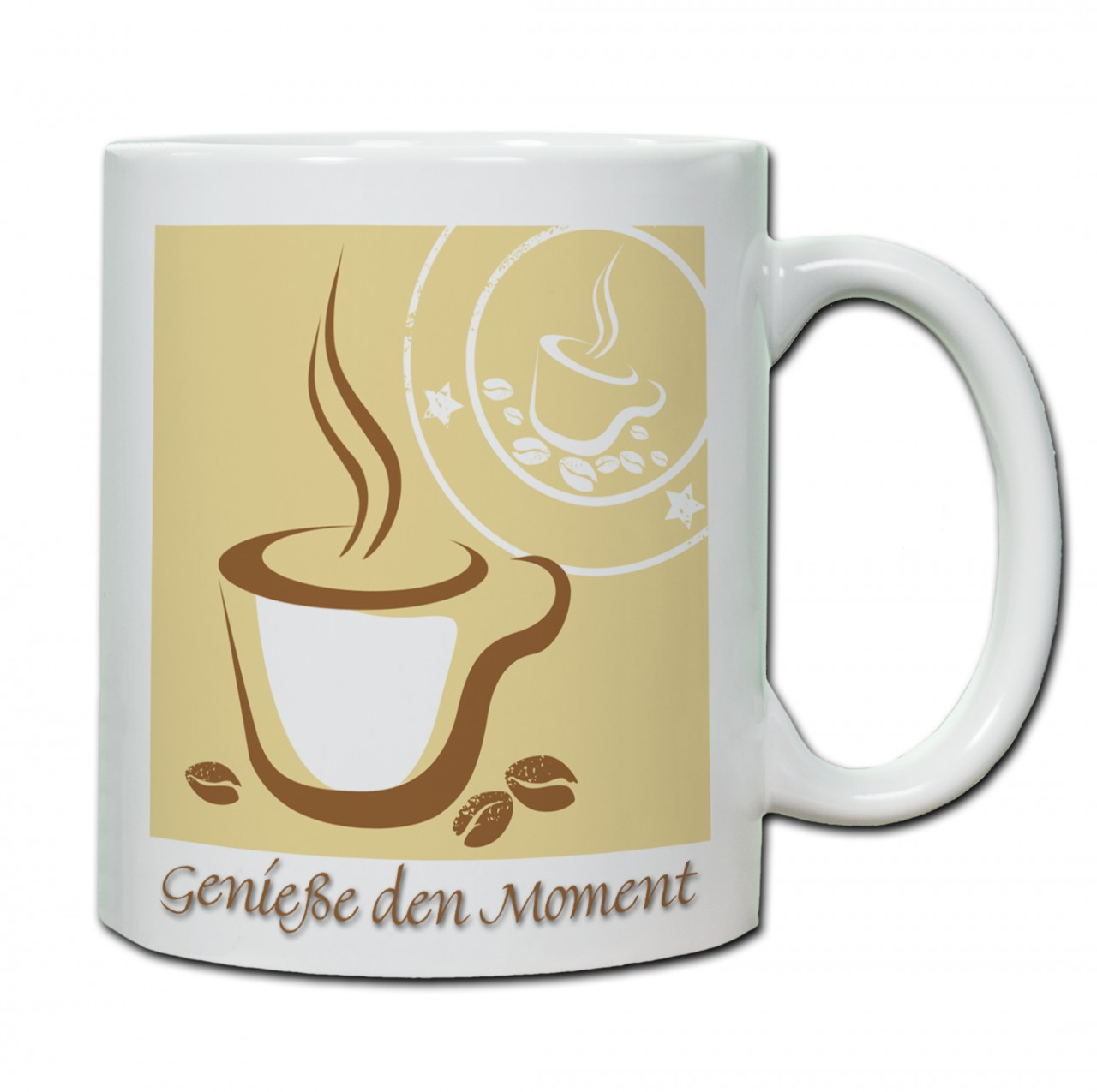 """""""Genieße den Moment"""" Tasse, Keramiktasse"""