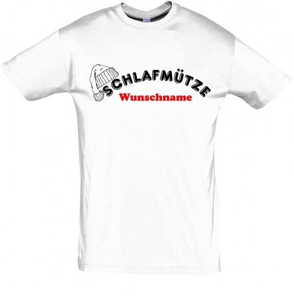 """""""Schlafmütze"""" mit Wunschname T-Shirt, Schlaf-Shirt (Foliendruck)"""