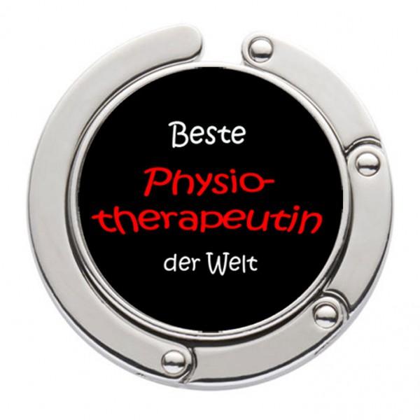 """""""Beste Physiotherpeutin der Welt"""" Taschenhalter mit magnet. Gliederhalterung - Taschenhaken & Handtaschenhalter"""