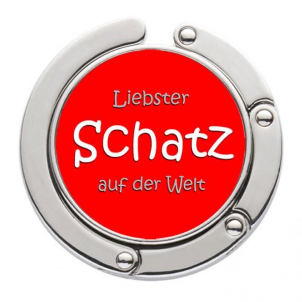 """""""Liebster Schatz der Welt"""" Taschenhalter mit magnet. Gliederhalterung - Taschenhaken & Handtaschenhalter"""