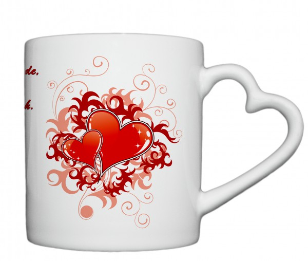 """""""Jeder Tag, Jede Stunde...."""", Tasse, Keramiktasse mit Herzhenkel"""