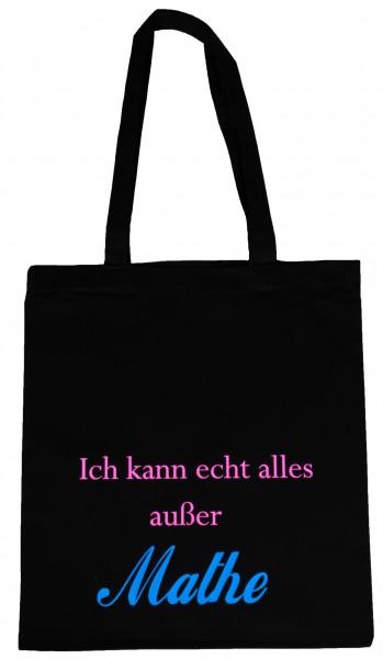 alles außer Mathe ... Baumwollbeutel, Tasche, Bag - witziger Spruch Neon Shopper