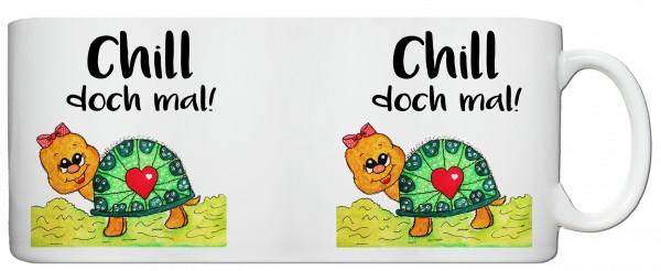 "Schildkrötentasse ""Chill doch mal"""