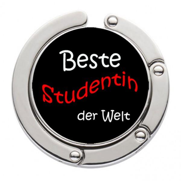 """""""Beste Studentin der Welt"""" Taschenhalter mit magnet. Gliederhalterung - Taschenhaken & Handtaschenhalter"""