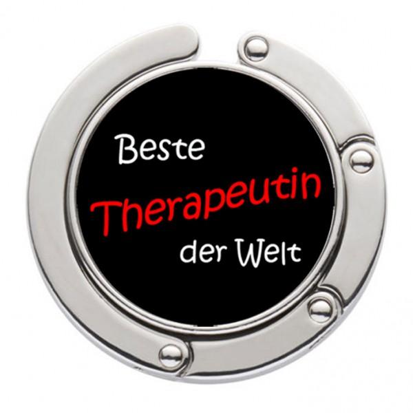 """""""Beste Therapeutin der Welt"""" Taschenhalter mit magnet. Gliederhalterung - Taschenhaken & Handtaschenhalter"""