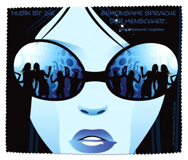 """""""Musik ist die gemeinsame Sprache der Menschheit..."""" Brillenputztuch, Glasreinigungstuch"""