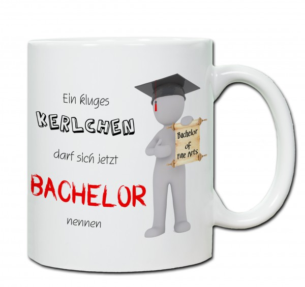 """Bachelor of FineArts"" Tasse, Keramiktasse mit Wunschnamen"