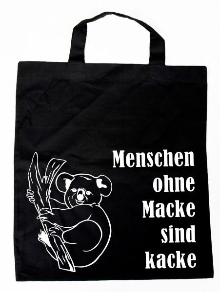 Menschen ohne Macke ... Baumwollbeutel, Tasche, Bag - witziger Spruch Neon Shopper