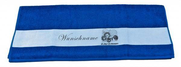 Sternzeichen Löwe und Wunschname Badetuch Duschtuch Handtuch
