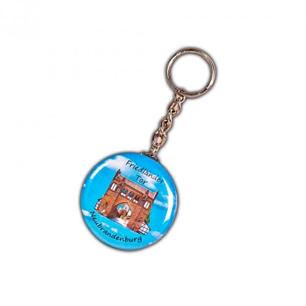 Schlüsselanhänger in Buttonform 56 mm Durchmesser