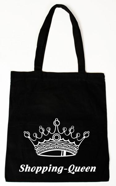 Shopping Queen Baumwollbeutel, Tasche, Bag - witziger Spruch