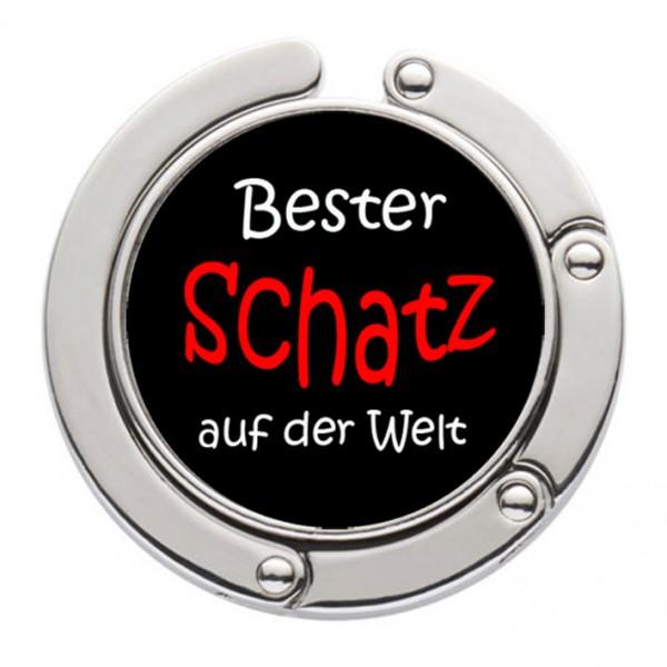 """""""Bester Schatz der Welt"""" Taschenhalter mit magnet. Gliederhalterung - Taschenhaken & Handtaschenhalter"""