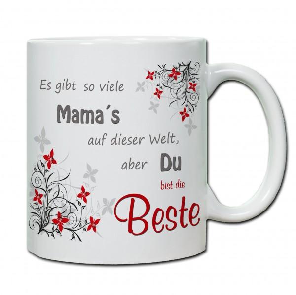 """""""Es gibt so viele Mama`s auf der Welt, aber du bist die Beste"""" Tasse, Keramiktasse"""