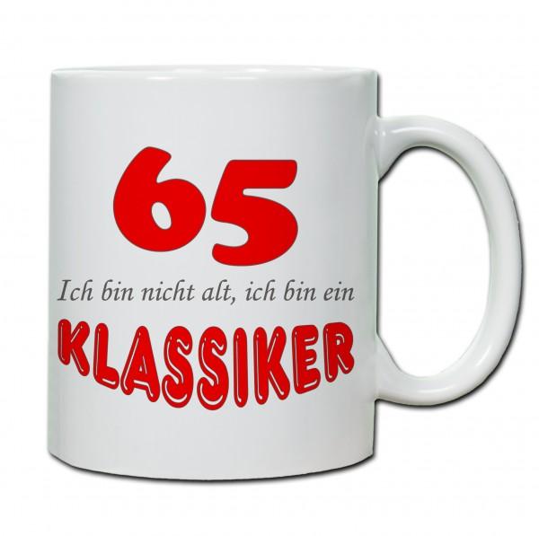 """""""65. Geburtstag - Tasse 03"""" Tasse, Keramiktasse"""