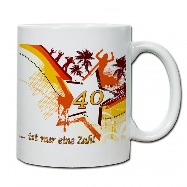 """""""40. Geburtstag - Tasse 05"""" Tasse, Keramiktasse"""