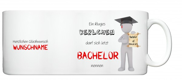 """Bachelor of MusicalArts"" Tasse, Keramiktasse mit Wunschnamen"