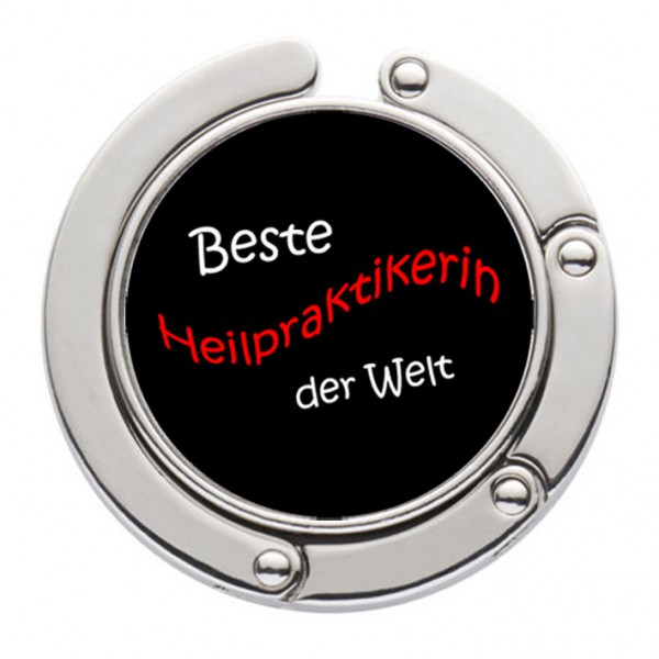 """""""Beste Heilpraktekerin der Welt"""" Taschenhalter mit magnet. Gliederhalterung - Taschenhaken & Handtaschenhalter"""
