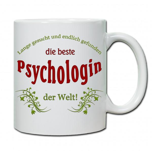 """""""Beste Psychologin der Welt..."""" Tasse, Keramiktasse"""