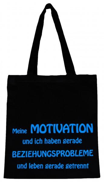 Motivation ... Baumwollbeutel, Tasche, Bag - witziger Spruch Neon Shopper
