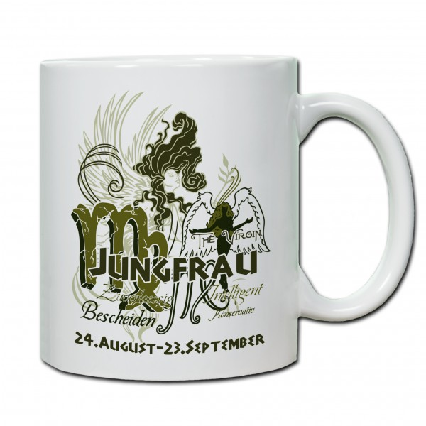 """""""Jungfrau01"""" Tasse, Keramiktasse mit Sternzeichen"""