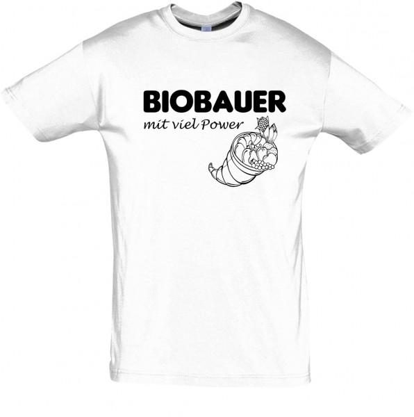 BioBauerPower T-Shirt, Fun-T-Shirt - bedruckt mit Folie