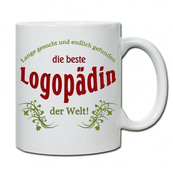 """""""Beste Logopädin der Welt..."""" Tasse, Keramiktasse"""