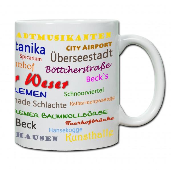 Städtetasse Bremen01 weiß