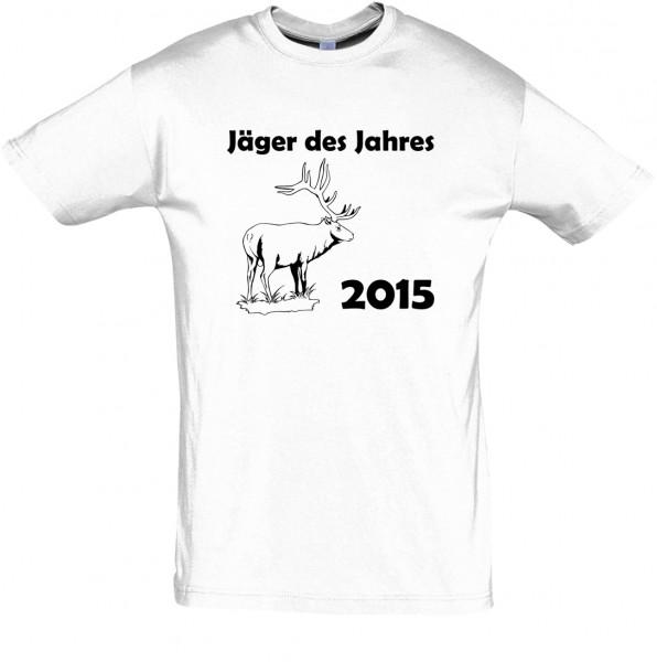 Jäger des Jahres T-Shirt, Fun-T-Shirt - bedruckt mit Folie