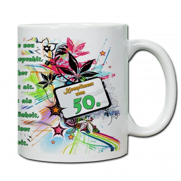 """""""50. Geburtstag - Tasse 01"""" Tasse, Keramiktasse"""