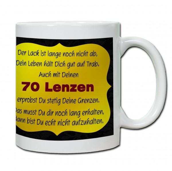 """Tasse 70. Geburtstag """"70 Lenzen"""""""