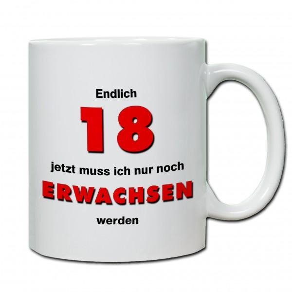 """""""18. Geburtstag - Tasse 05"""" Tasse, Keramiktasse"""