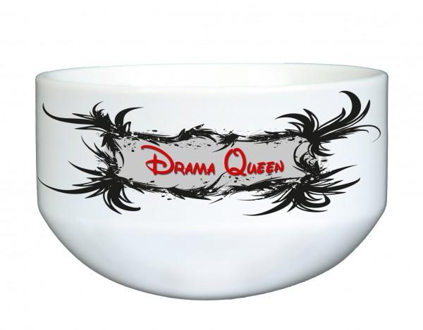 """""""Drama Queen"""" Müslischale, Dekoschale, Suppenschüssel, mit Spruch, ca. 14 cm Durchmesser, weiß"""