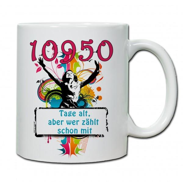 """""""30. Geburtstag - Tasse 04"""" Tasse, Keramiktasse"""