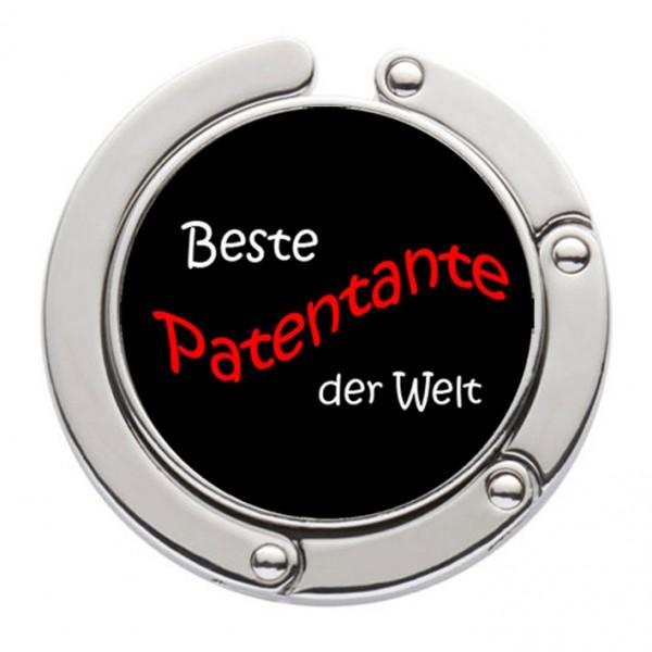 """""""Beste Patentante der Welt"""" Taschenhalter mit magnet. Gliederhalterung - Taschenhaken & Handtaschenhalter"""