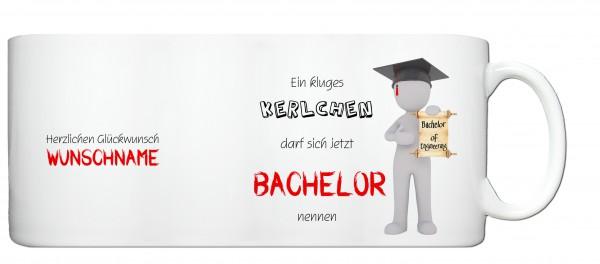 """Bachelor of Engineering"" Tasse, Keramiktasse mit Wunschnamen"