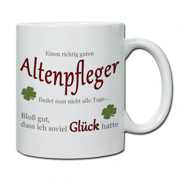 """""""Einen richtig guten Altenpfleger findet man nicht alle Tage..."""" Tasse, Keramiktasse"""