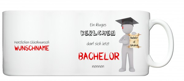 """Bachelor of Education"" Tasse, Keramiktasse mit Wunschnamen"