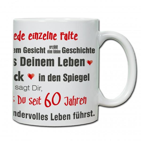 """""""60. Geburtstag - Tasse 05"""" Tasse, Keramiktasse"""