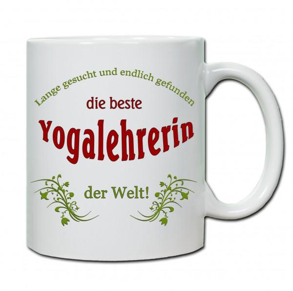 """Beste Yogalehrerin..."" Tasse, Keramiktasse"